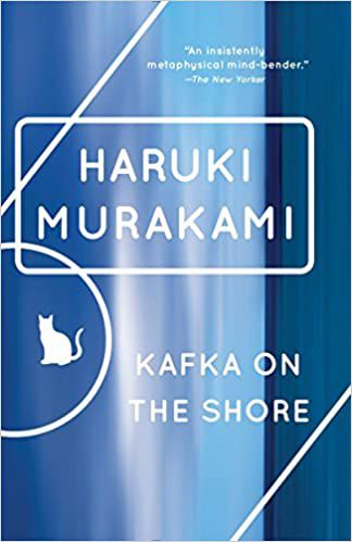Kafka on the Shore cover with a cat silhouette illustration