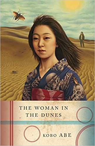 Shows the book cover of the Woman in the Dunes by Kobo Abe.