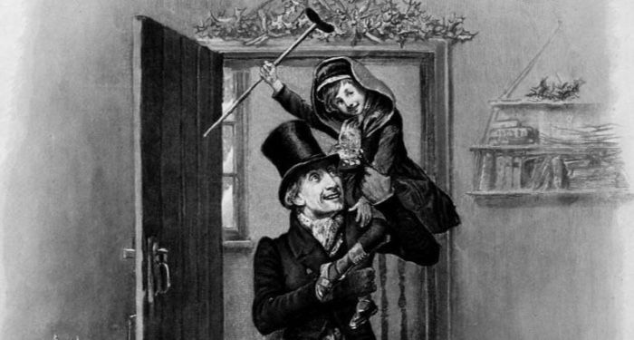 Tiny Tim Reproduced from a c.1870s photographer frontispiece to Charles Dicken's A Christmas Carol public domain