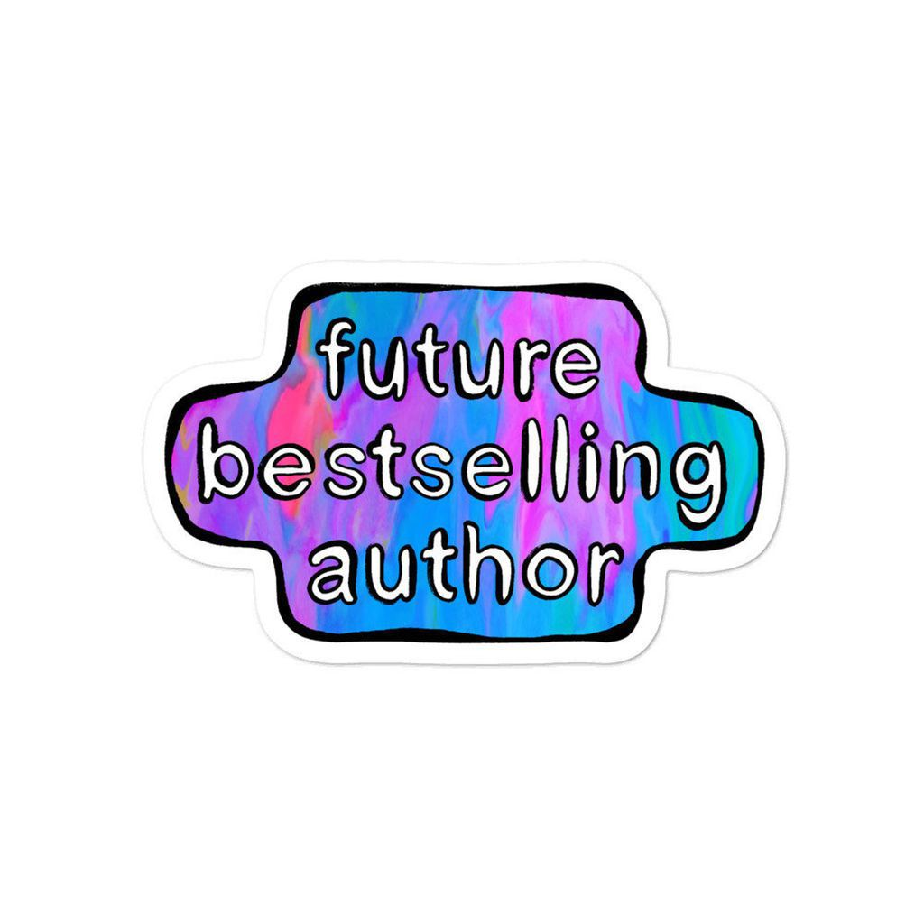 future bestselling author sticker
