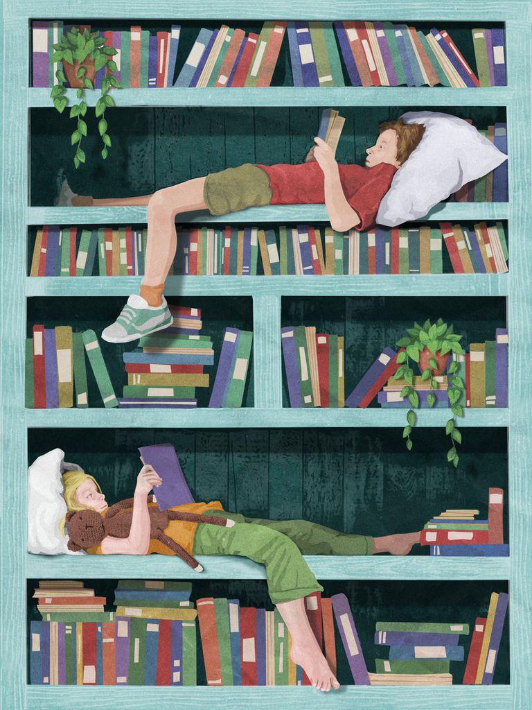 kids reading print