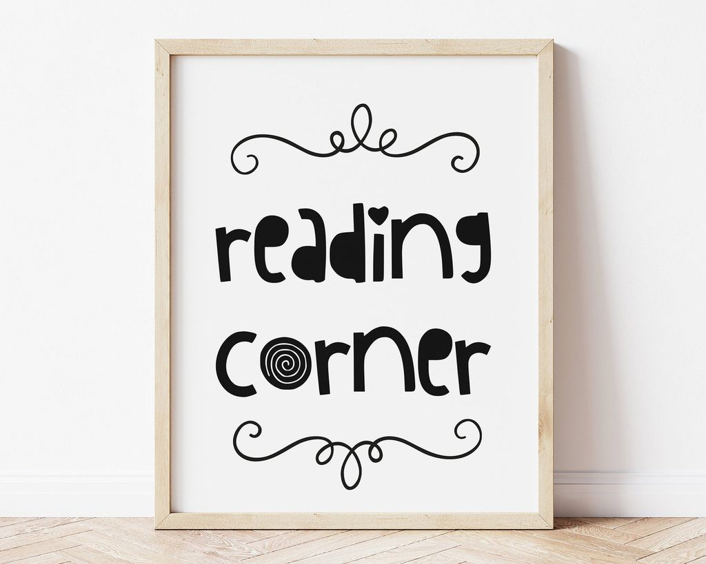 reading corner print
