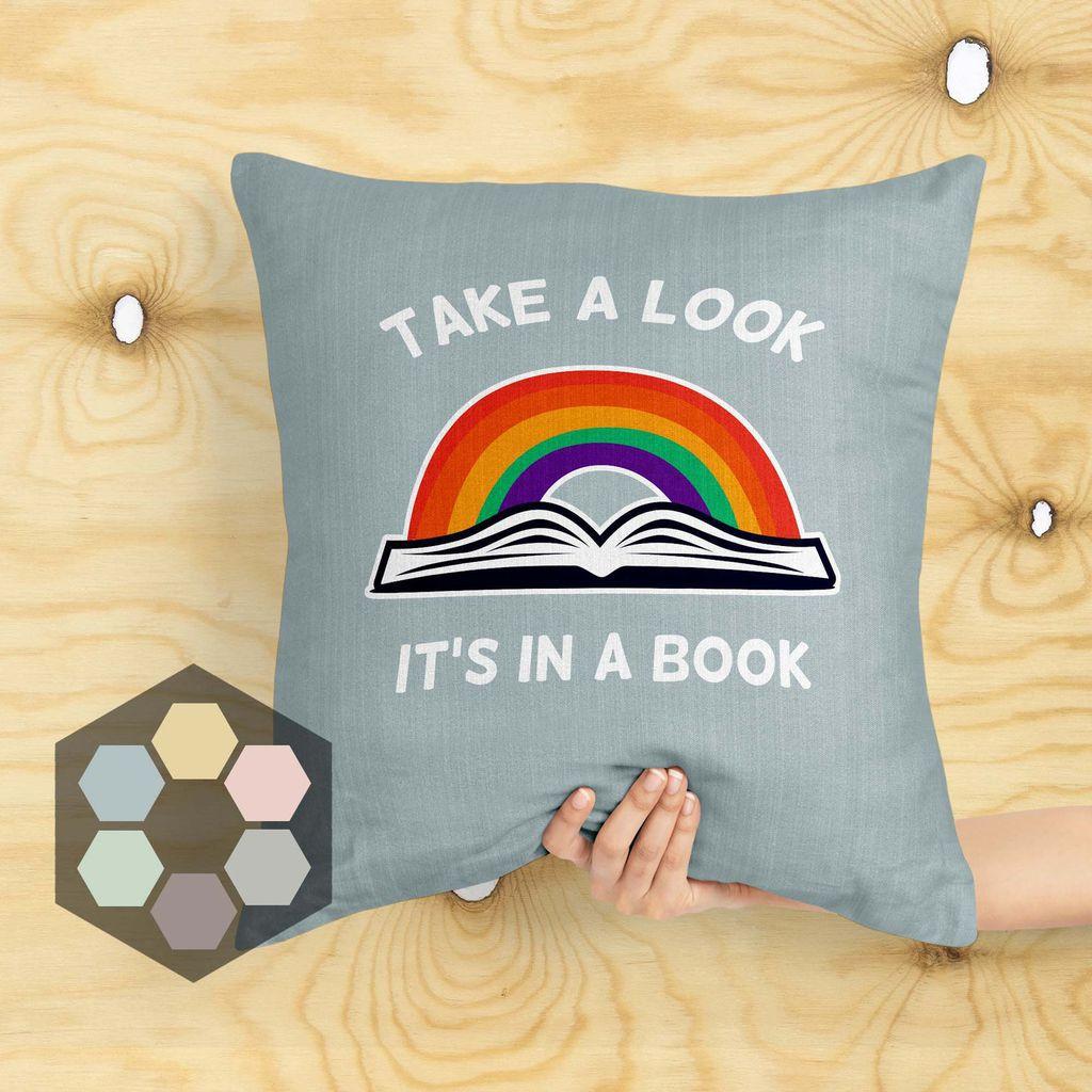 reading rainbow pillow