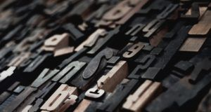 typesetting in wood