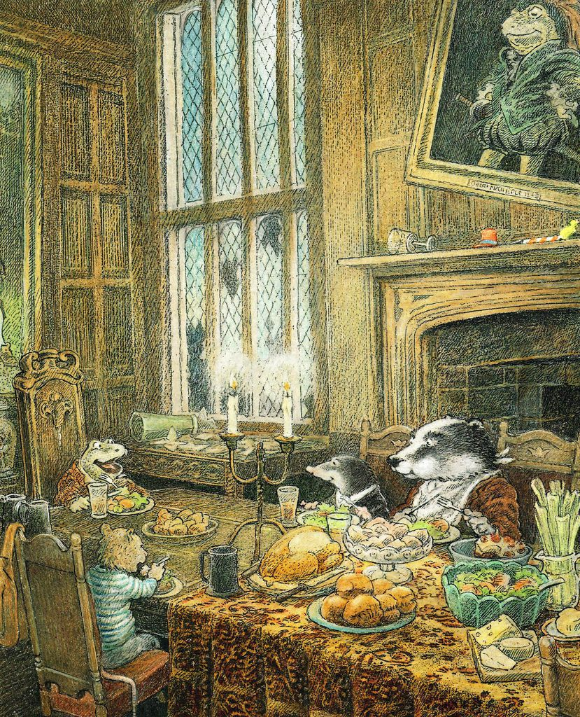 vintage wind in the willows art
