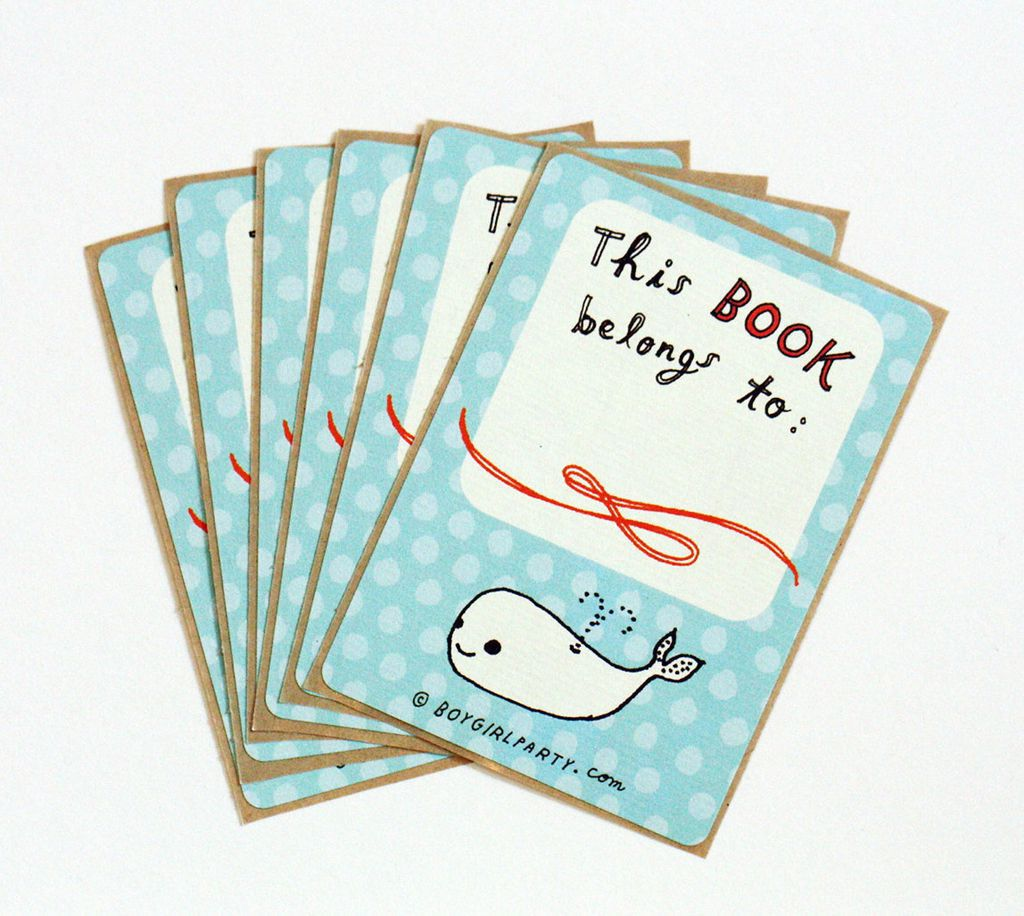 whale book plates
