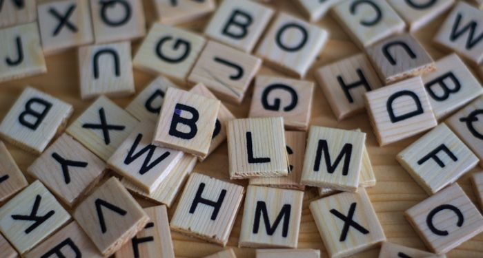 image of scattered letter tiles in a word game https://unsplash.com/photos/C5SUkYZT7nU