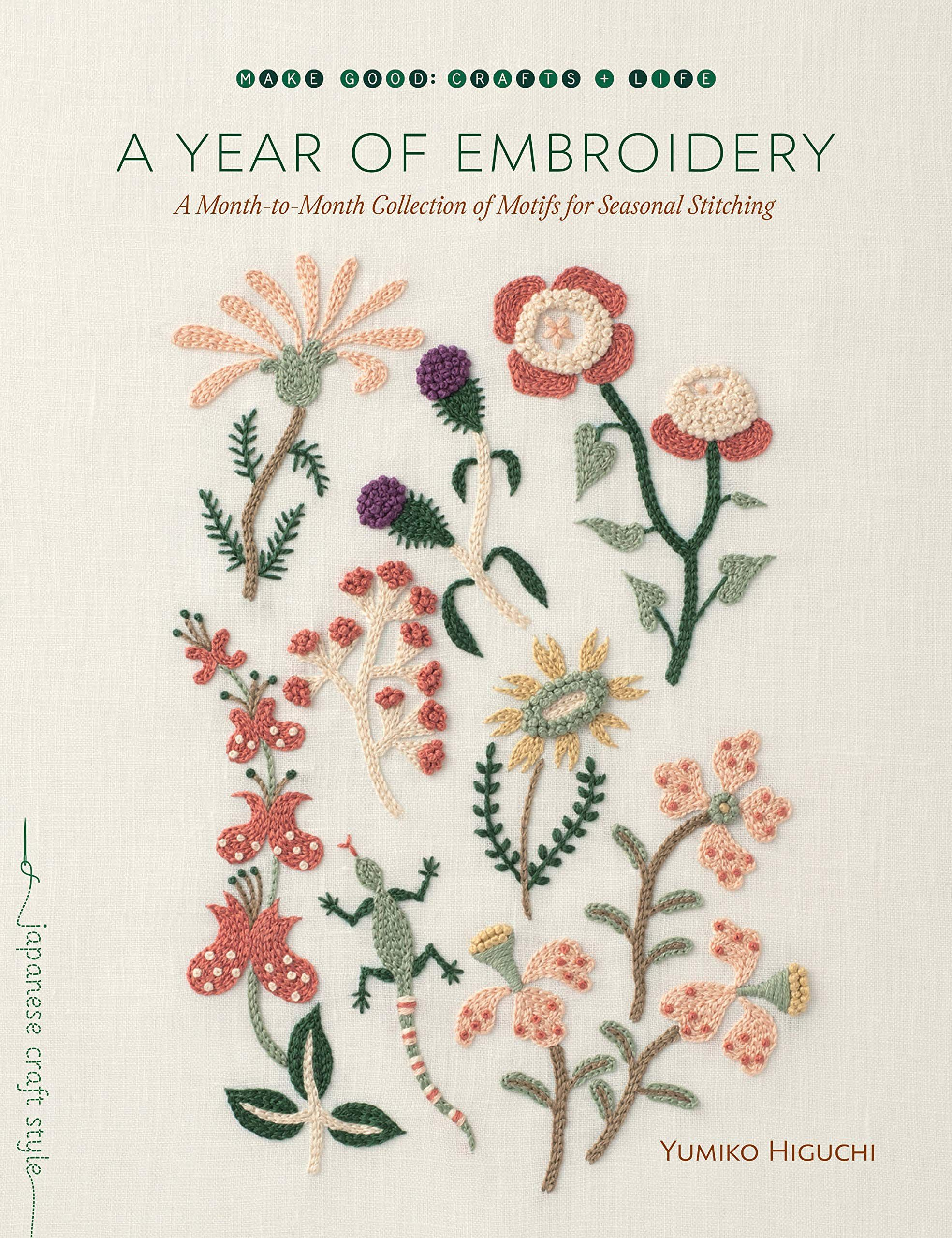 Book cover image of A Year of Embroidery