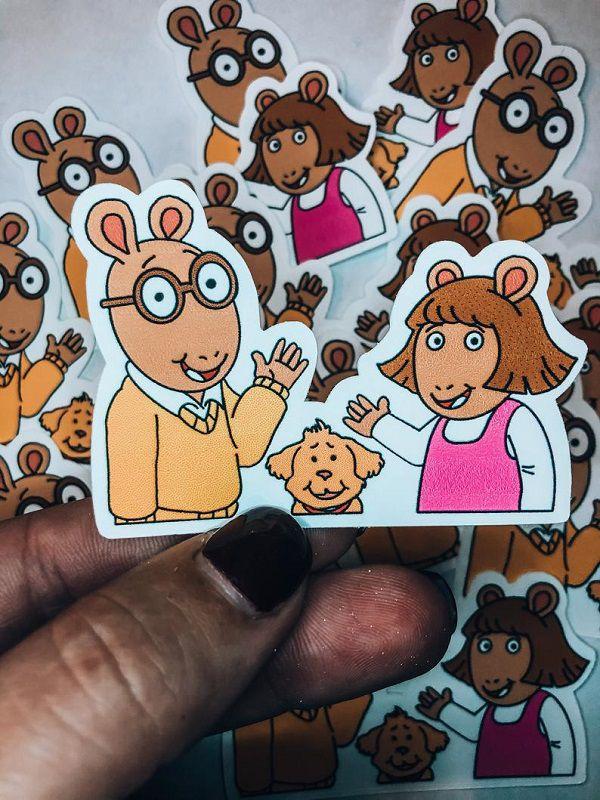 Arthur and DW Sticker.jpg.optimal