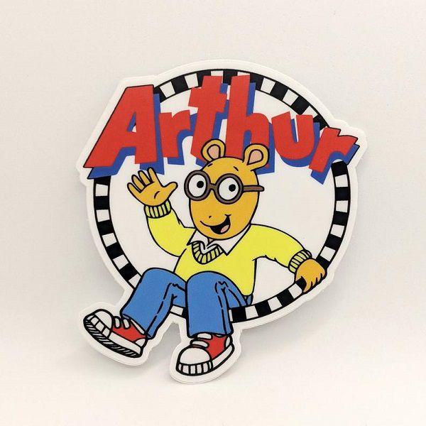 Arthur the Aardvark Cartoon Logo Sticker.jpg.optimal