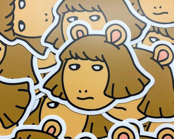 DW Side Eye Vinyl Die Cut Sticker.jpg.optimal
