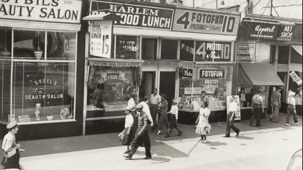 View of Harlem storefronts, 1939 nypl archive historical feature 700x375