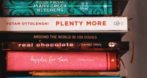 cookbooks in a stack