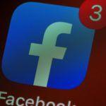 facebook app on screen