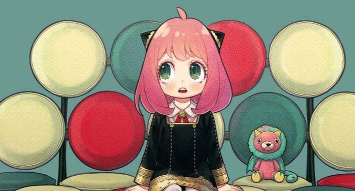 closeup of cover of SPY FAMILY manga by Tatsuya Endo