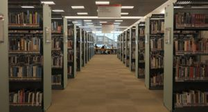 an image of library stacks