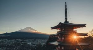 image of Pagoda temple with Mt. Fuji in the background https://unsplash.com/photos/aqZ3UAjs_M4