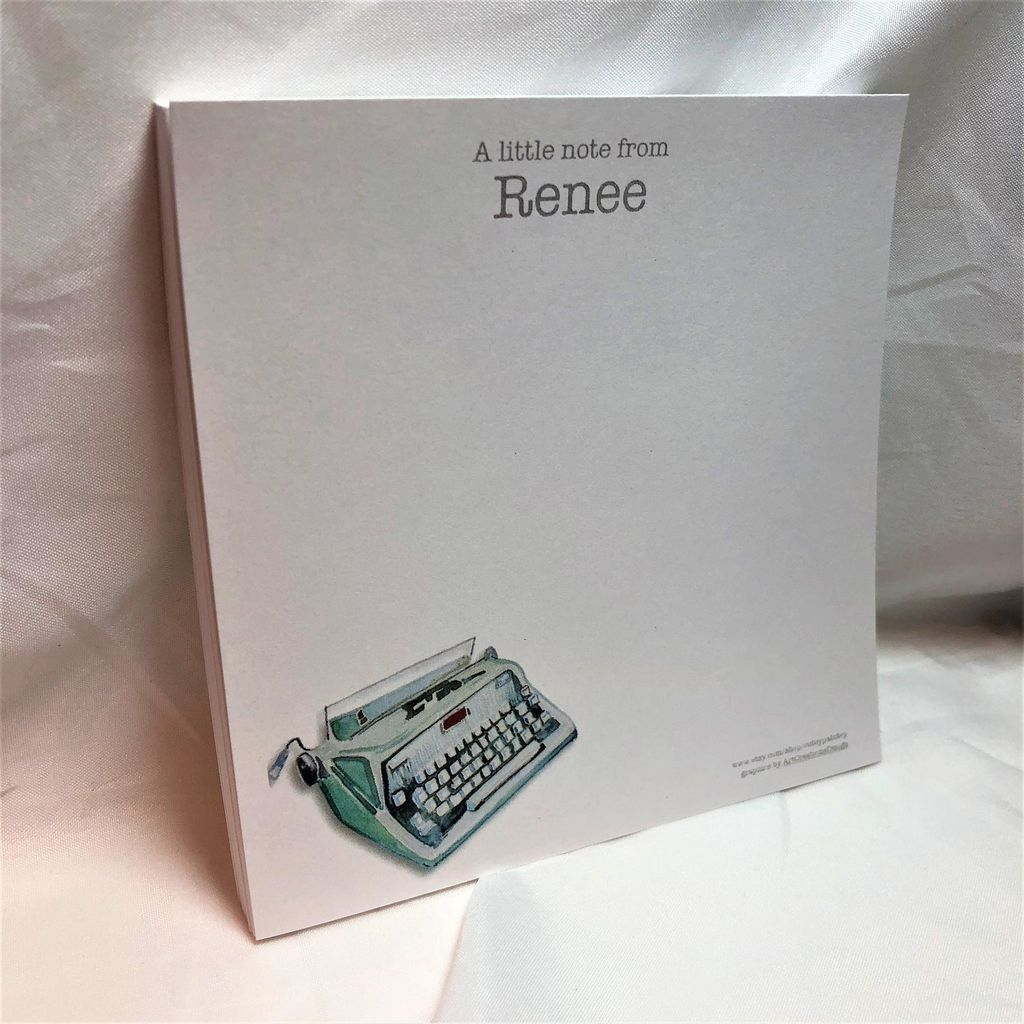 personalized typewriter notepad