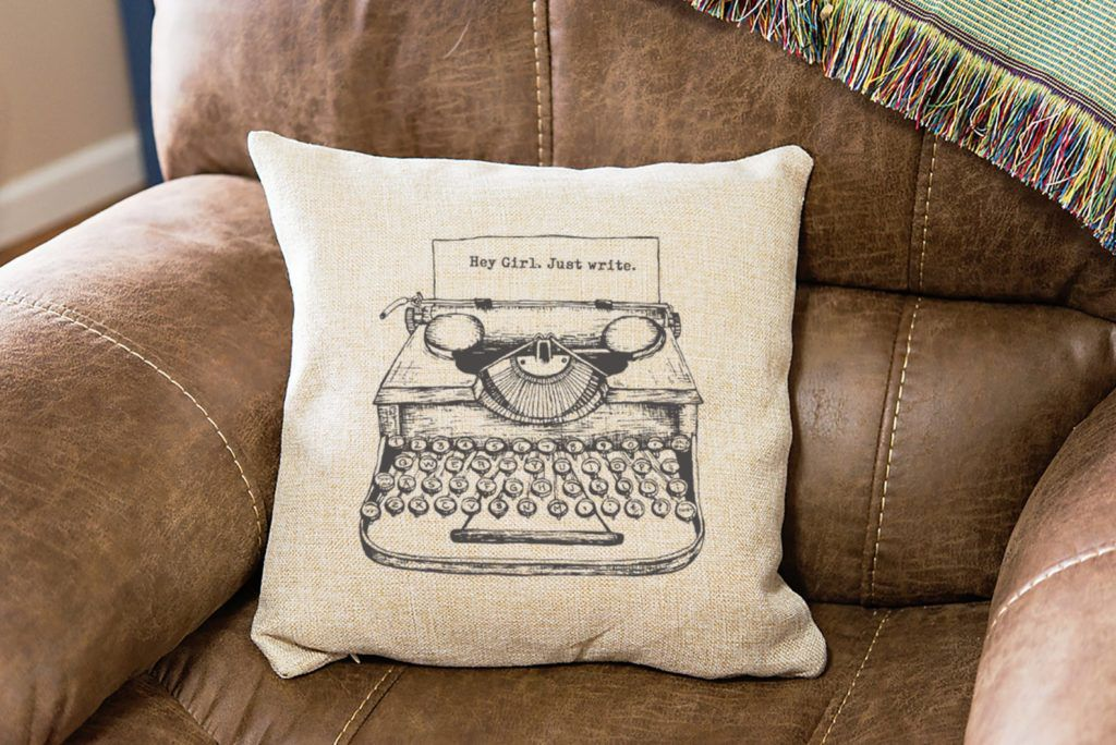personalized typewriter pillow cover