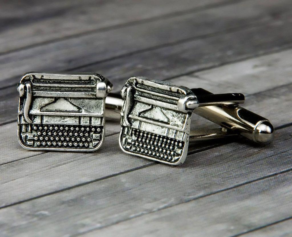 typewriter cufflinks