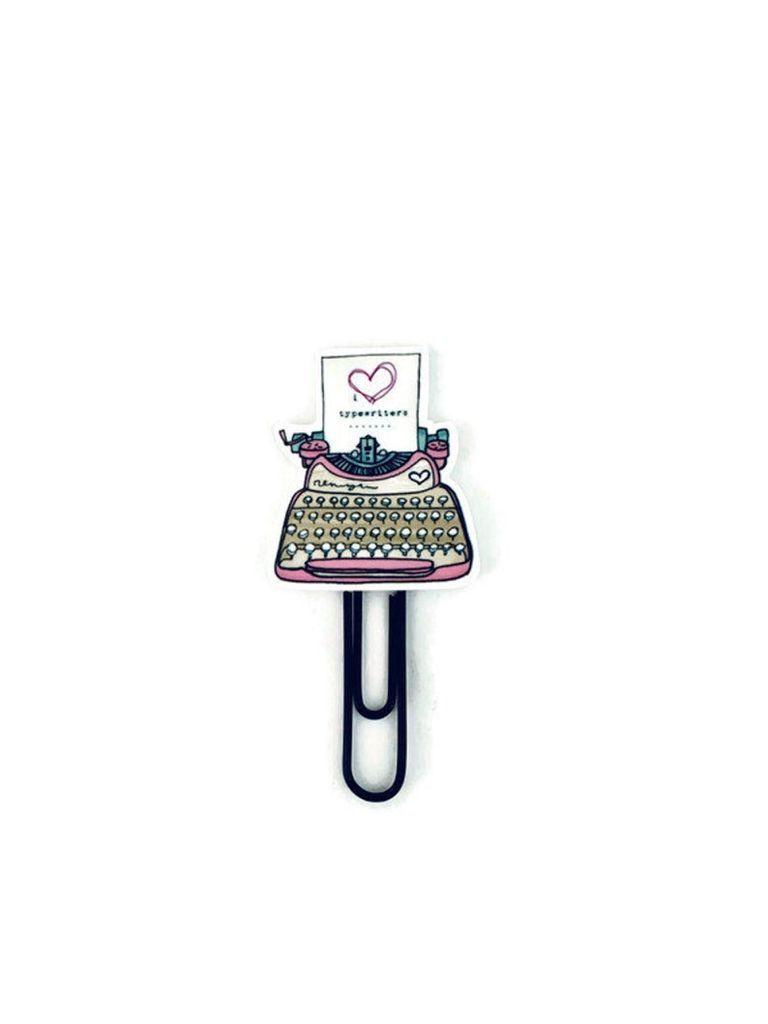 typewriter planner clip