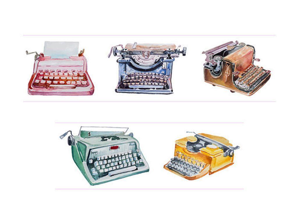 typewriter washi tape