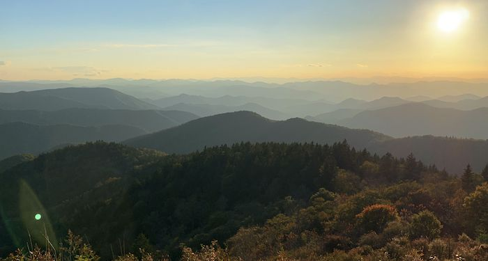 Asheville area from the Blue Ridge Parkway.  Photo by Anne Mai Yee Jansen.