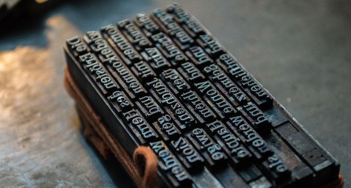 Cast Metal Letters from Type Foundry