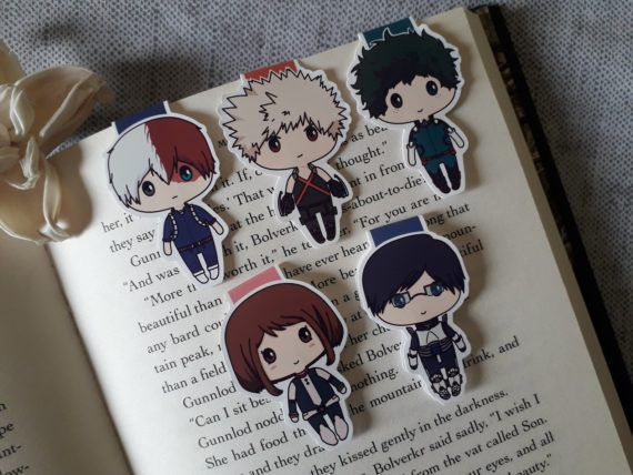 My Hero Academia Character Magnetic Bookmarks