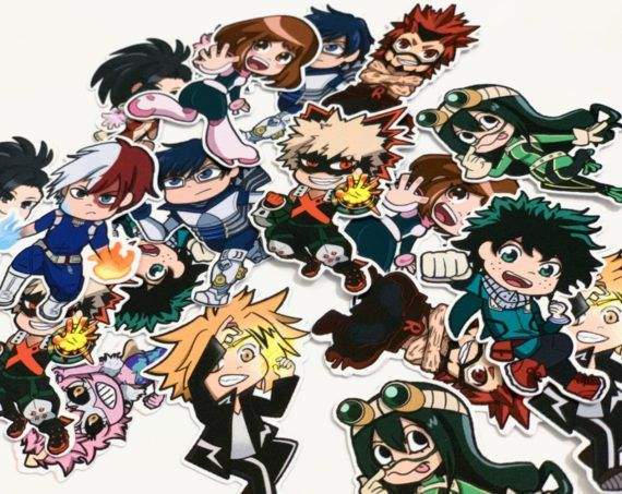 My Hero Academia Character Stickers