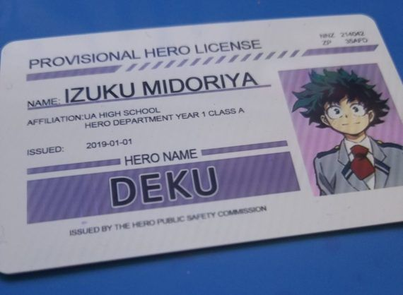 My Hero Academia Cosplay Character Provisional Hero License