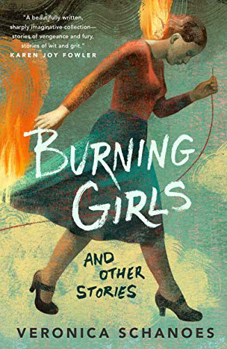 cover of burning girls by veronica schanoes