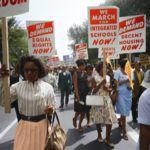 Black women activists at civil rights march on Washington, D.C.
