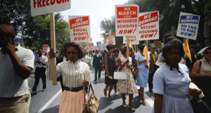 Black women activists at civil rights march on Washington, D.C.