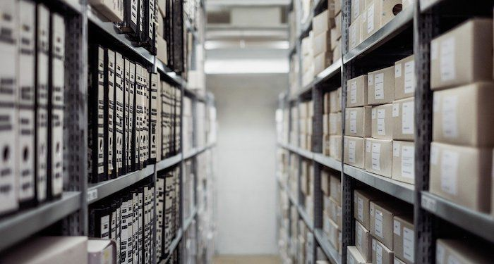 image of archival boxes and documents.jpg.optimal