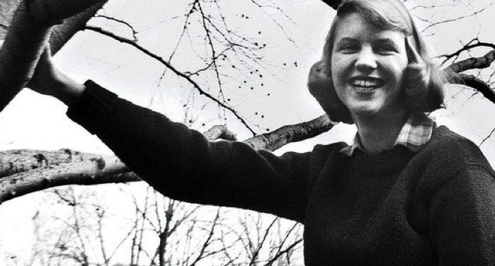 image of Sylvia Plath / closeup of book cover for American Isis: The Life and Art of Sylvia Plath by Carl Rollyson