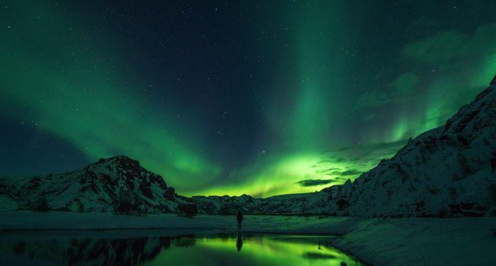 northern lights in a polar region