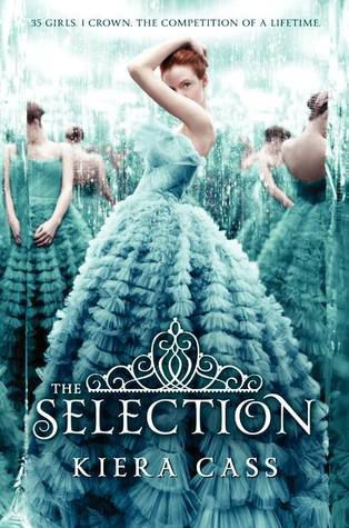 book cover with teens in blue ball gowns