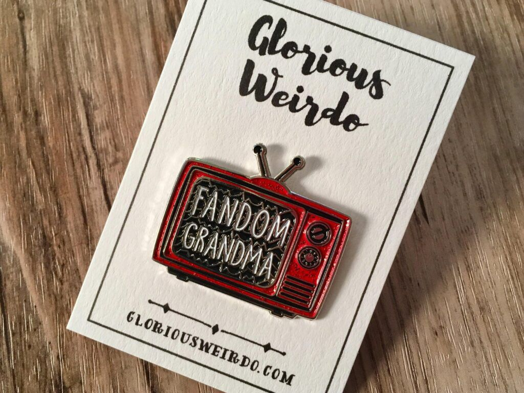 Fandom Grandma enamel pin