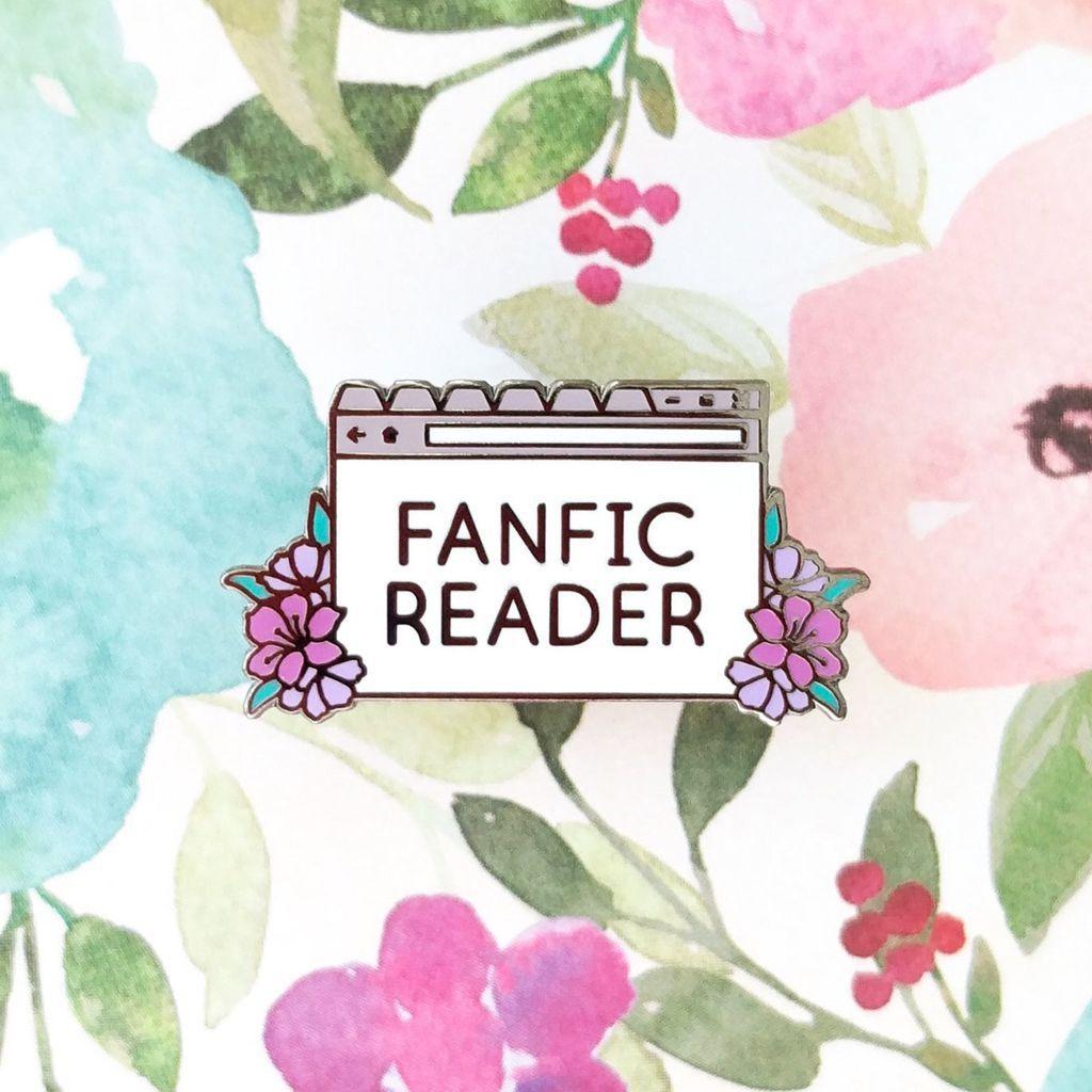 Fanfic Reader enamel pin