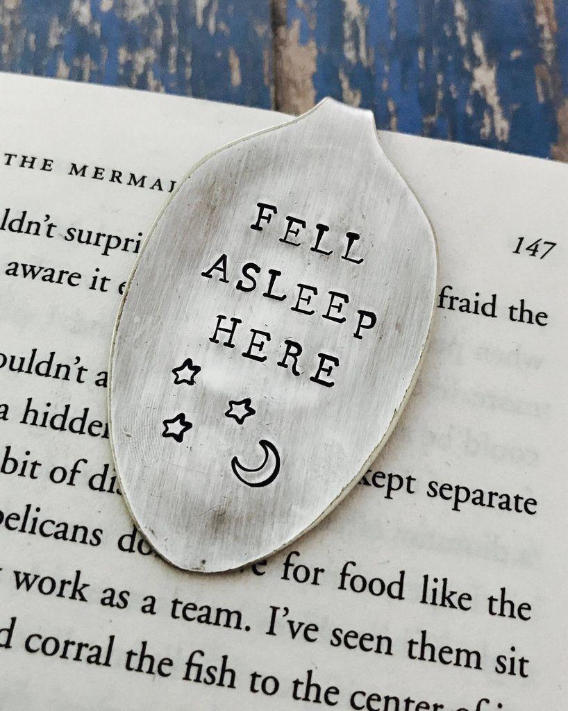 Fell Asleep Here Funny Bookmark