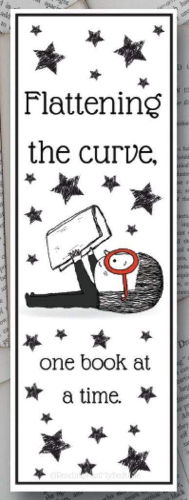 Flattening the Curve, One Book at a Time Funny Bookmark