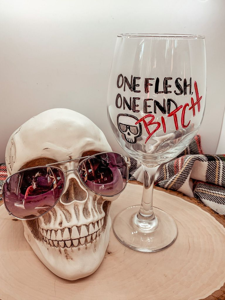 Gideon the Ninth wine glass