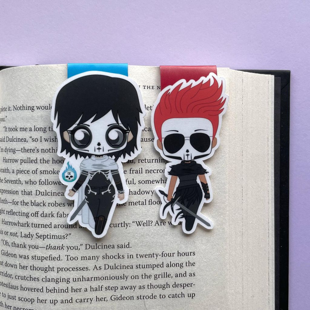 Harrow and Gideon magnetic bookmarks