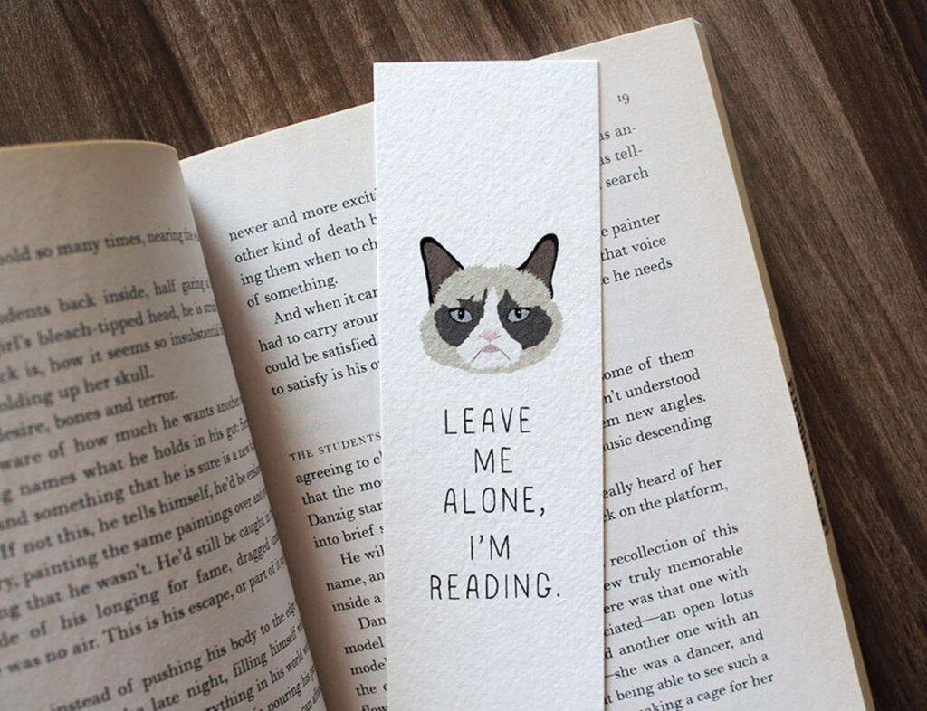 Leave Me Alone, I'm Reading Grumpy Cat Funny Bookmark