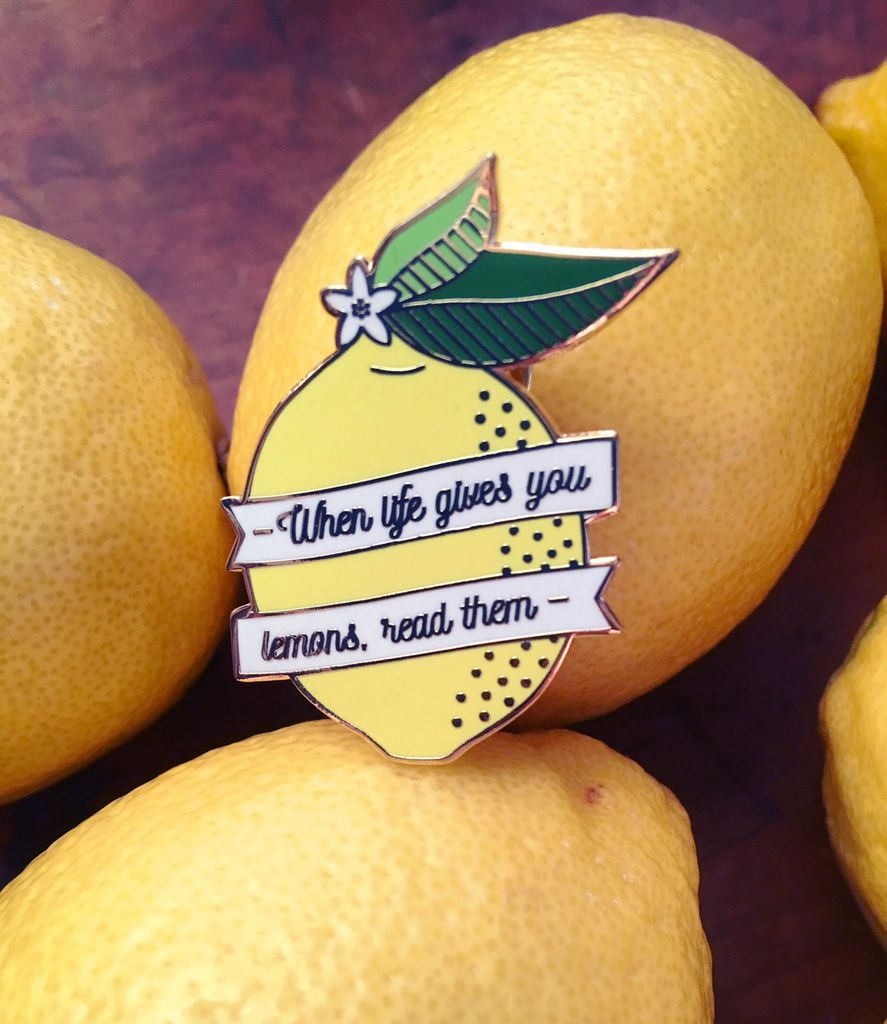 Lemon fanfics enamel pin