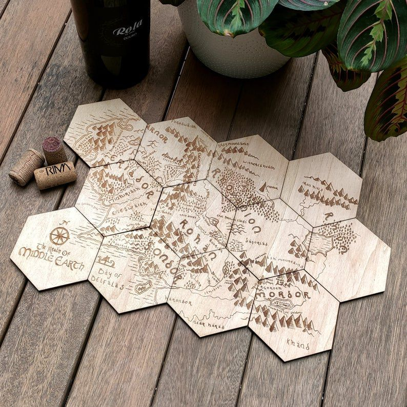 Middle-earth map coasters