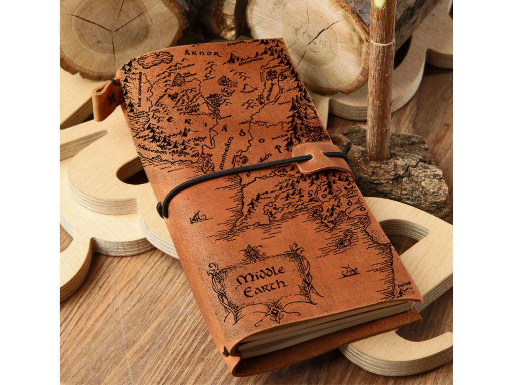 Middle-earth map leather Lord of the Rings journal