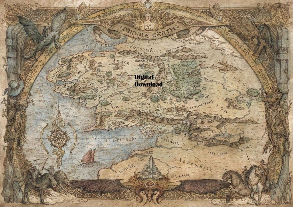 Digital map of Middle-earth