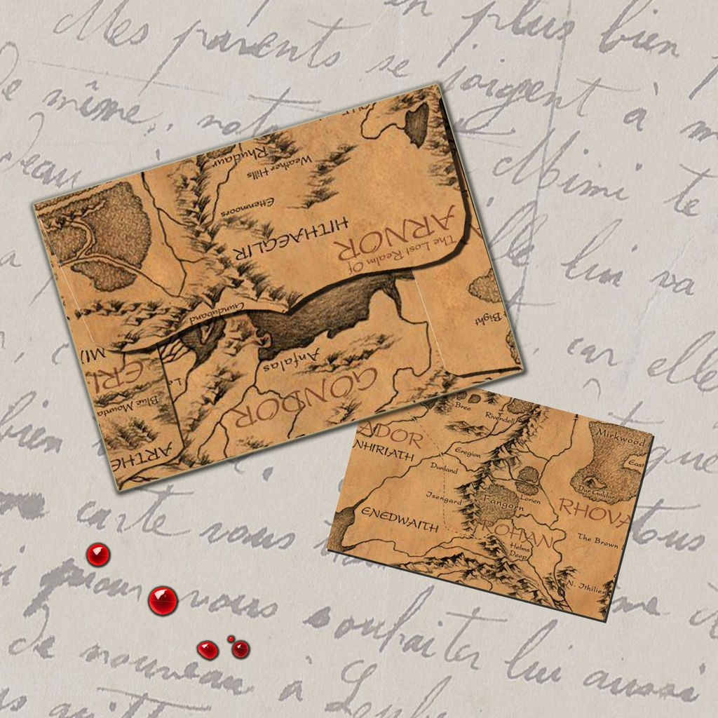 Middle-earth map envelopes